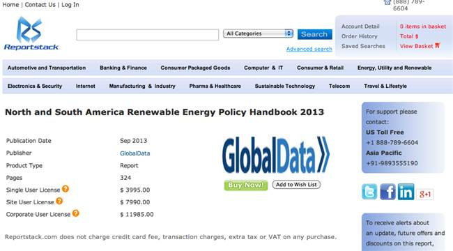 North and South America Renewable Energy Policy Handbook 2013