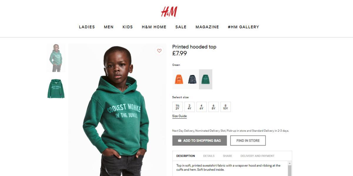 【イギリス】H&M、アフリカ系少年モデルを起用した商品画像が人種差別の批判。各国で不買運動も 2
