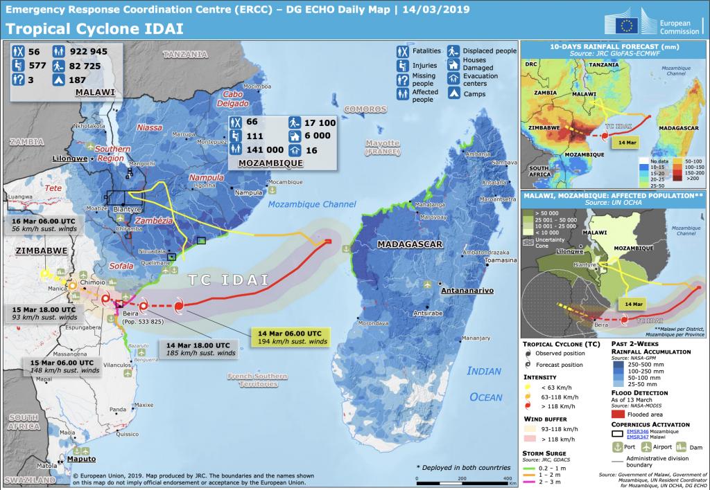 【アフリカ】サイクロン・イダイ、死者約800人。避難民290万人。マラウイ、モザンビーク、ジンバブエ 2