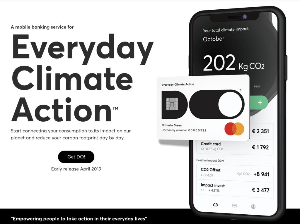 【スウェーデン】気候変動対応型クレジットカード登場。フィンテックDoconomyの「DO」 1
