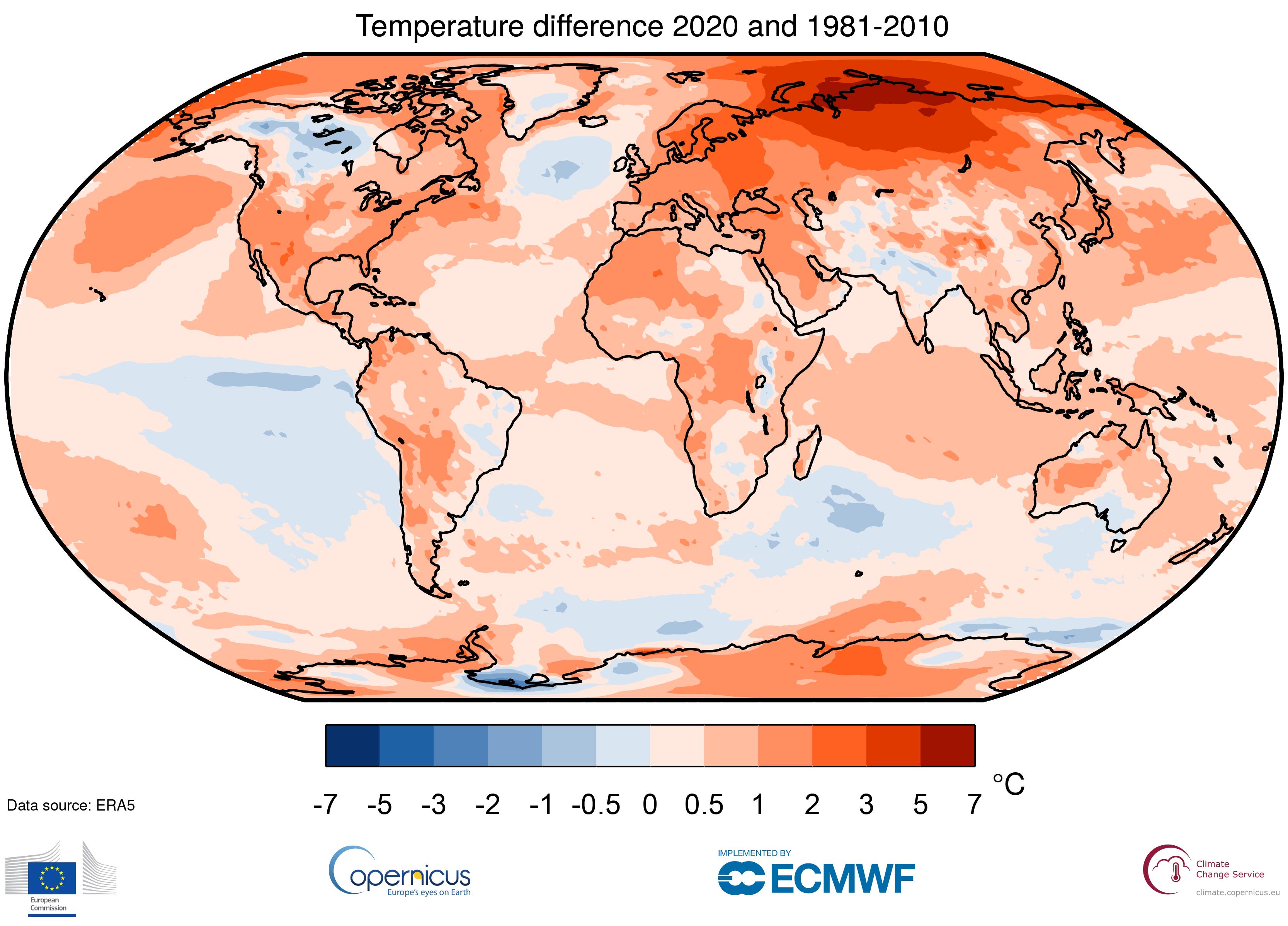 【国際】2020年の世界気温平均は2016年タイ記録で最高値。産業革命前から1.25℃上昇 2