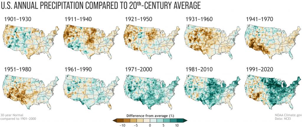 【アメリカ】海洋大気庁、米国の10年トレンドの気温上昇結果発表。明らかな気候変動の兆候 3