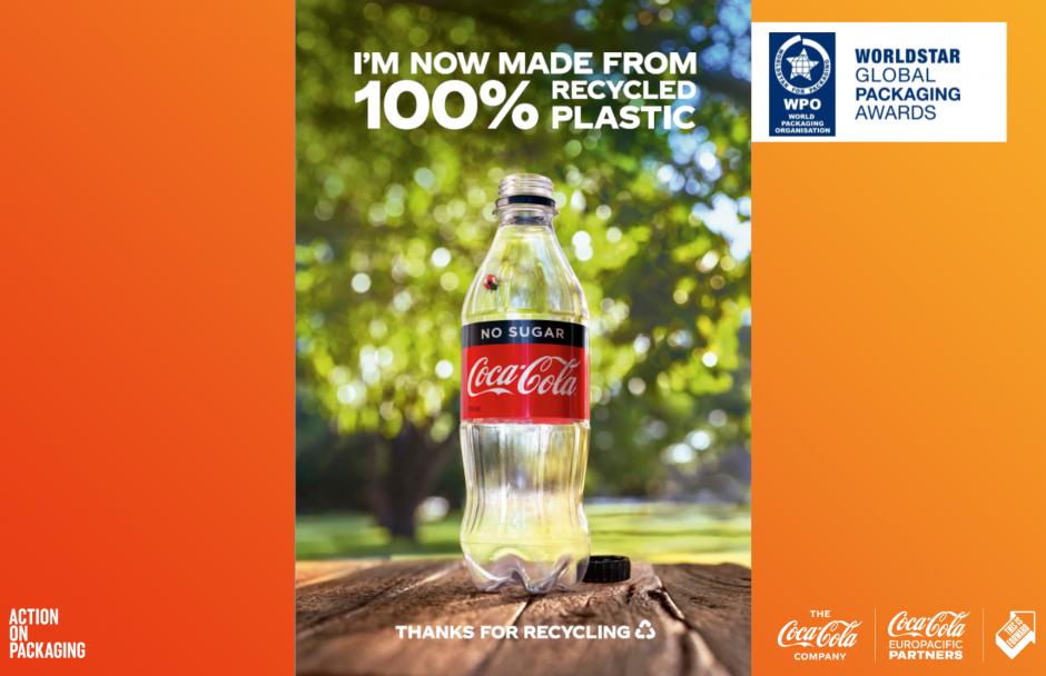 【オーストラリア】CCEP、炭酸飲料での100%rPET投入でワールドスター受賞。コカ・コーラ全体も牽引 1